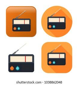 retro radio icon - media and music symbol