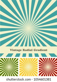 Retro rays comic background raster gradient halftone pop art style