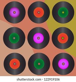 Retro record background