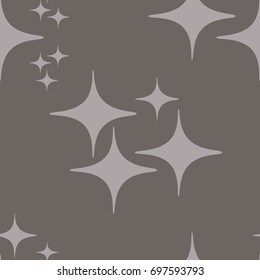 Retro Repeat Pattern Vector Stars