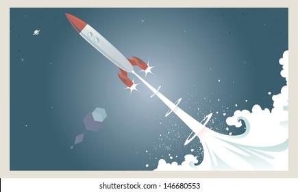 Retro Rocket Launch