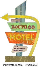 retro route sixty six Motel sign,vector illustration