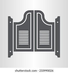 Retro saloon door icon