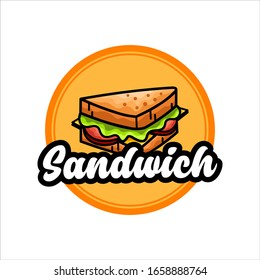 Retro Sandwich Logo Vector Illustration