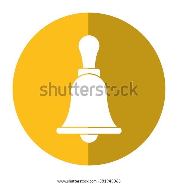retro school bell handle shadow