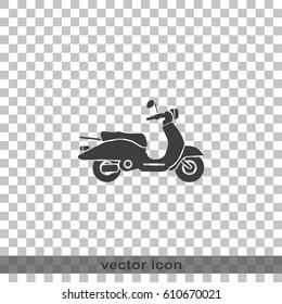Retro scooter icon.