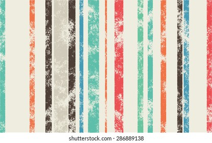Retro Scratched Background - Color Lines with Different Width on Light Background - Can Be Used for Webdesign or Wallpaper