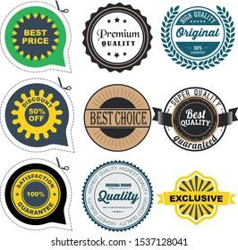 retro seal badge promotion business sale