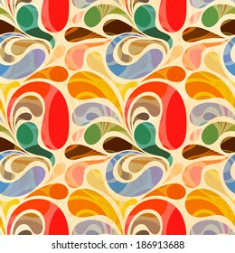 Retro seamless abstract floral pattern