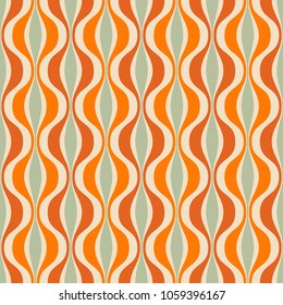 Retro seamless pattern from the 50s and 60s. Seamless abstract Vintage background in sixties style. Vector illustration