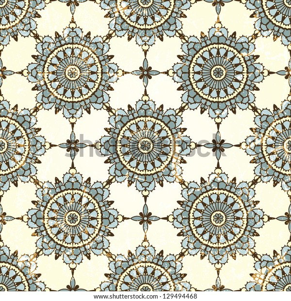 Retro seamless pattern. Grunge effect can be removed. EPS 10 vector illustration.