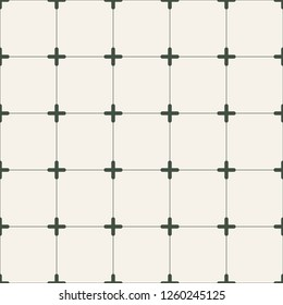 Retro seamless pattern made from lines and crossses