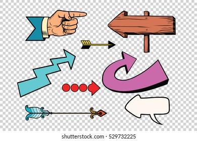 60572d0e27cc Pop Art Arrows Images, Stock Photos & Vectors | Shutterstock