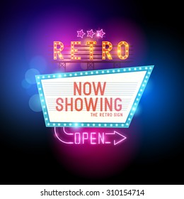 Retro Showtime Sign.