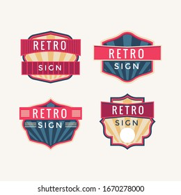 Retro signs and vintage neon signs colorful collection