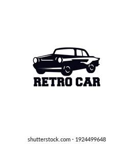 Retro simple and minimalist car logo design