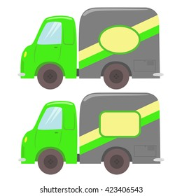 Retro small truck, color