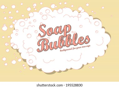 Retro soap bubble background with space for your message