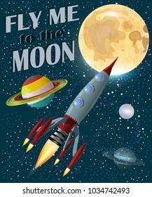Retro Space Poster.