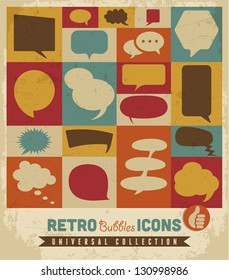 Retro speech bubbles set.Vector