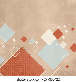 Retro squares background - abstract pattern