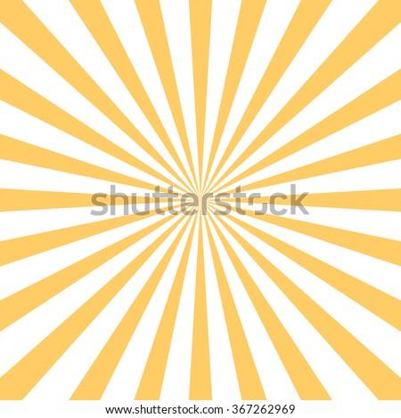 Retro Starburst Background Centric Yellow Sunburst Vector Pattern Sun Burst Texture Flat