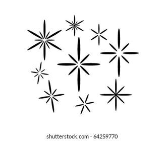 Retro Stars 3 - Retro Clipart