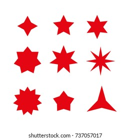 retro stars shapes
