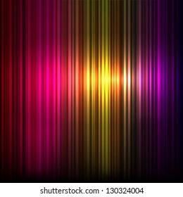Retro striped colorful background. Vector.