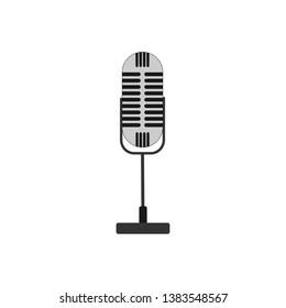 retro style desktop microphone icon