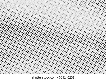 Retro style dotted grain graphic background. halftone grey and black polka dot pop art pattern layout template page. Vector illustration