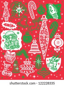 Retro Style Holiday Graphic Vector Icons