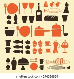 Retro style kitchen set