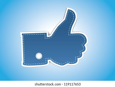 Retro Style Like / Thumbs Up symbol