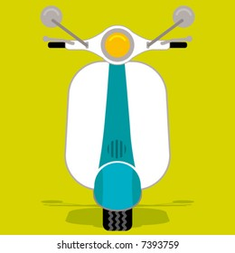 Retro style of scooter bike