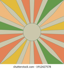 Retro Sunshine, Vintage pattern, Beams, colors art design, Abstract