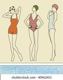 retro swimmers