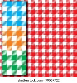 Retro tablecloth texture (Seamless fabric pattern background)