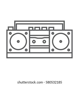 retro tape recorder icon