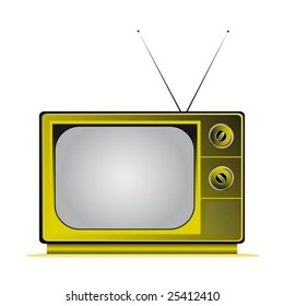 retro television colored with antennas