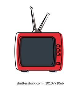 Retro television icon