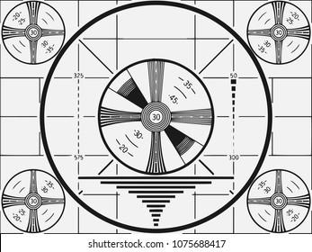 Retro Television Test Pattern vector illustration.
