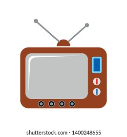 Retro television vector icon. filled flat sign for mobile concept and web design. Old tv glyph icon. Symbol, logo illustration. Pixel perfect vector graphics