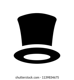 Retro tophat vector icon isolated on white background