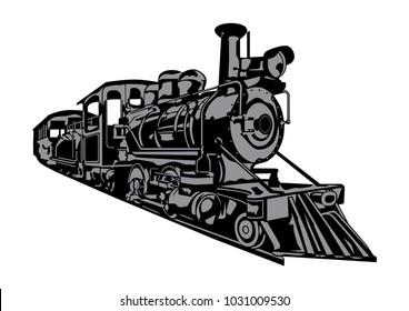 Retro Train Vintage Symbol