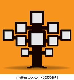 Retro tree frame,Infographic Modern Design template.EPS 10