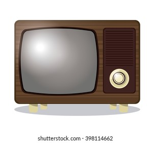 Retro TV design, Vector illustration