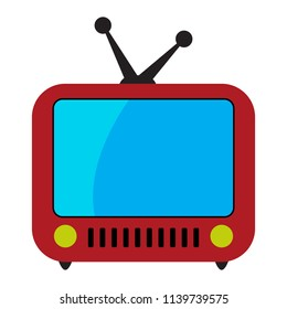 Retro TV flat icon