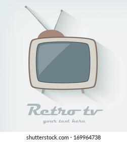 Retro tv icon. Flat style