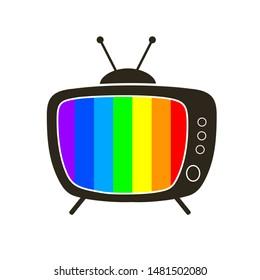 Retro tv icon – stock vector